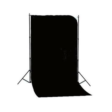 Imagem de Fundo Infinito de Algodão Preto de 1.85m x 2.75m