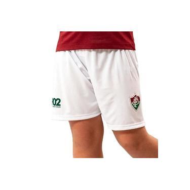 Bermuda Fluminense Braziline Flash Infantil - Branco
