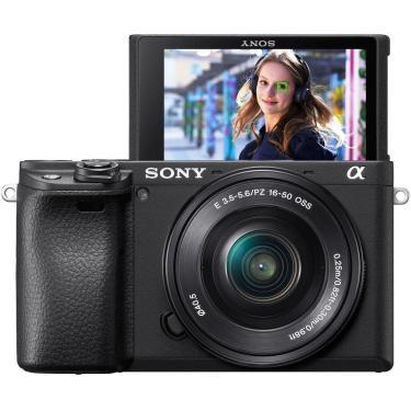 Sony - Alpha A6400 Mirrorless Câmera Digital Com Lente Pz 16-50Mm F/3.5-5.6 Oss - Preto-Ilce-6400L/B