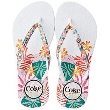 Imagem de Sandália Jungle Summer, , Coca-Cola, Feminino, Branco/Branco, 41/42