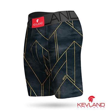 Imagem de Cueca Boxer Long Leg Kevland Dark Line Tamanho:M;Cor:Cinza