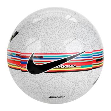 Bola Campo Nike Cr7 Prestige SC3898-100, Cor: Branco/Preto, Tamanho: U