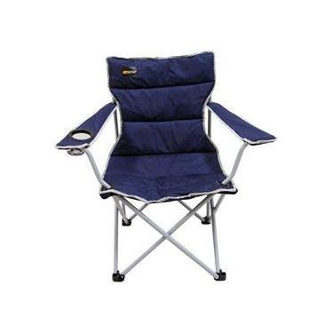 Cadeira Dobrável Nautika Camping Pesca Boni + Bolsa Azul