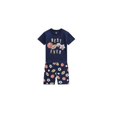 Pijama Infantil Masculino Verão Esportes Brandili Menino 1-8 Anos