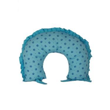 Almofada de Amamentação Alan Pierre Baby - Tricoline 100% algodão - Coroa Azul Bebê  unissex