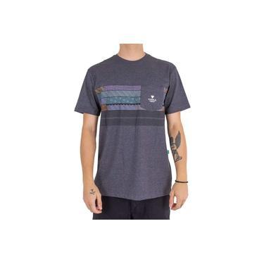 Camiseta Vissla Woodside Chumbo Mescla