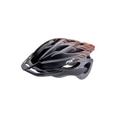 Capacete de Ciclismo PTK Runner - Linha Preto/Laranja com Regulador - Bicicleta, Patinete, Roller