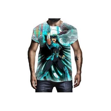 Camiseta Camisa Shiryu De Dragão Cavaleiro De Bronze Zodíaco