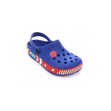 Sandália Babuche Infantil Nilqi Tipo Crocs - Capitão América Azul Play Game Preto Menino - Várias numerações - NOVO
