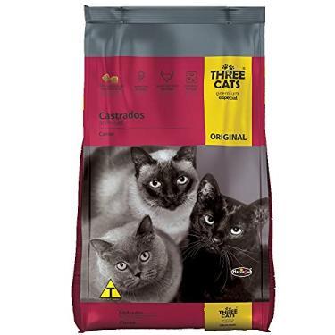 A Ração Three Cats Original Sabor Carne para Gatos Adultos Castrados Biofresh Raça Adulto, Sabor Carne 10,1kg
