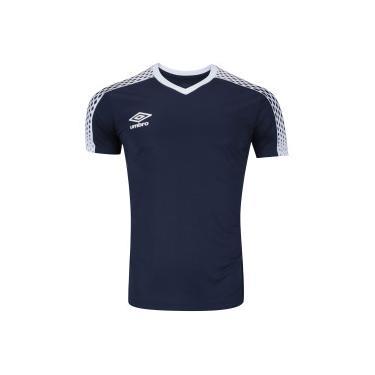 Camisa Umbro TWR Innverse - Masculina - AZUL ESC BRANCO Umbro b4aa14b1f3fb1