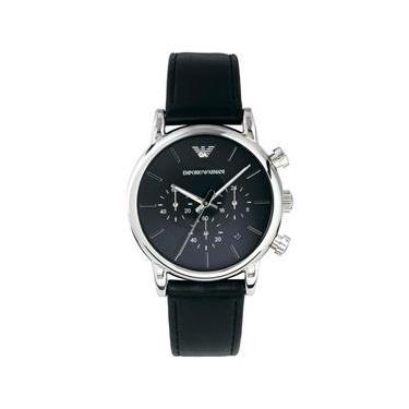 eaea90bd8eb44 Relógio Masculino Emporio Armani Modelo AR1733 Pulseira em Couro   A prova d   água