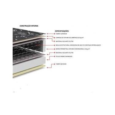Cama Box casal com baú + Colchão Molas Ensacada 1,38 x 1,88 x 24 cm borda periometral