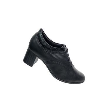 Bota Ankle Boot Comfortflex Salto Grosso Baixo Feminina