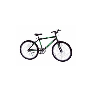 Bicicleta Aro 26 Mtb Wendy Sem Marchas Cor Preto Adesivo Verde