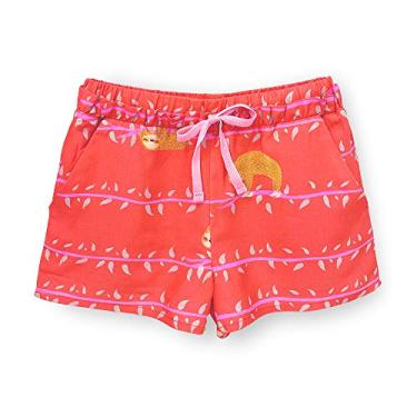 Short Infantil Pandi Preguicinha Cor:Vermelho;Tamanho:4A;Gênero:Menina
