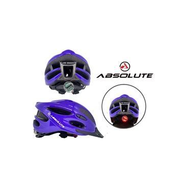 Capacete de Ciclismo Absolute Nero Azul C/Sinalizador Led