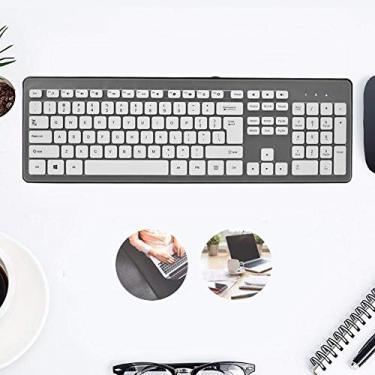 Teclado USB à prova d'água silencioso, teclado de jogo ultrafino à prova de poeira, para escritório de jogos (preto clássico)