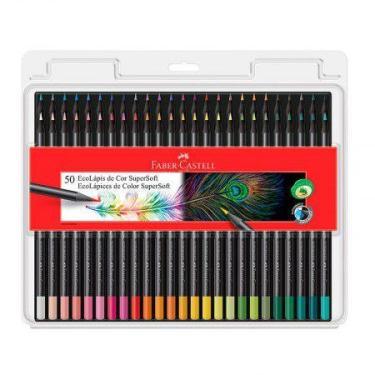 Lápis de cor Super Soft 50 cores - 120750S0FT - Faber-Castell