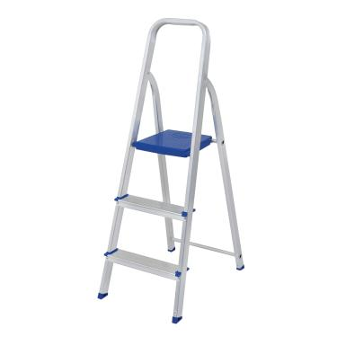 Escada Dobrável Em Alumínio 3 Degraus Mor 5101