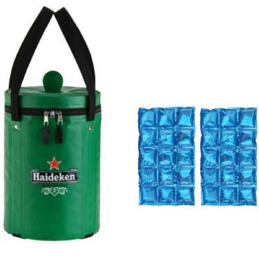 Imagem de Bolsa Térmica Barril 5 Litros + 2 Cartelas De Gelo Em Gel
