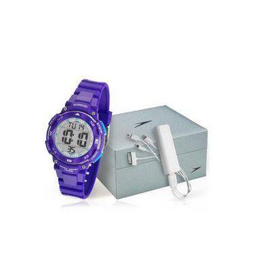 f847029375d Relógio Feminino Speedo 80616L0EVNP3 Kit com Carregador de Celular