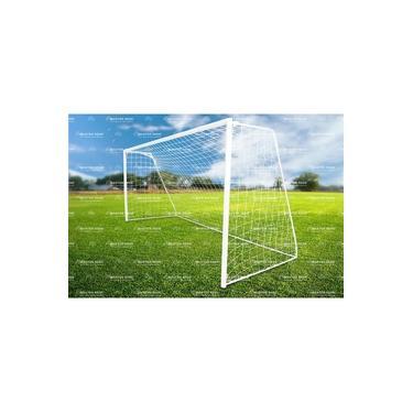 Rede De Futebol Society Tradicional 4,20 M, Fio 2,5 Mm Seda
