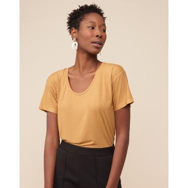 blusa básica u Feminino AMARO CARAMELO GG