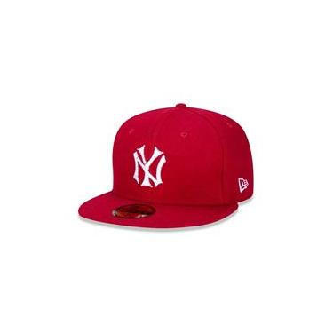 Bone 59Fifty New York Yankees Mlb Aba Reta Vermelho New Era
