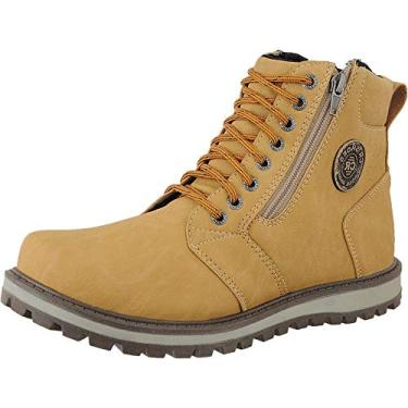 Coturno Casual Masculino CR Shoes Mostarda