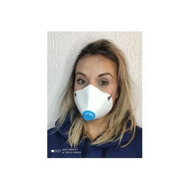 Máscara De Proteção Pff2 / N95 - Lavável - Reutilizável - C/válvula E Filtro