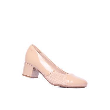Sapato Feminino Modare Salto Baixo Bloco Verniz