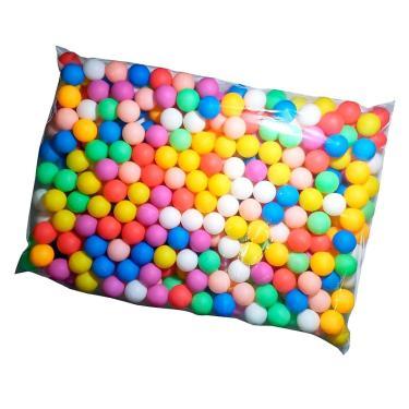 Bolas De Ping Pong Colorida Pacote Com 50 Unidades