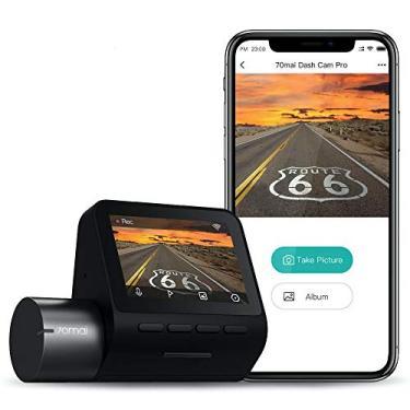 """Xiaomi 70mai PRO Dash Cam, Câmera para Carro, 1944P, Tela de 2""""LCD WDR, Visão Noturna, Ângulo de Visão 140°, G-Sensor, Gravação em loop, Detecção de Movimento, App WiFi, Carro DVR"""