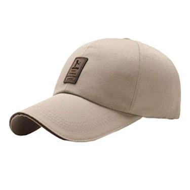 PRETYZOOM Boné de sol ao ar livre moderno boné de beisebol respirável esportivo clássico boné legal para uso masculino (cáqui) chapéu de sol de verão