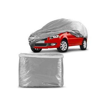 Capa Protetora para Cobrir Carro 100% Impermeável Fixação Firme Não Risca Pintura Tamanho P Cinza