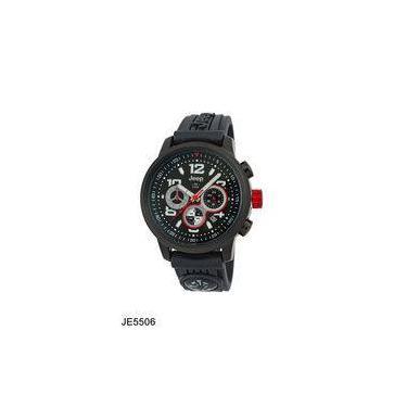 b53a45f5548 Relógio De Pulso Masculino Jeep JE5506 Caixa Aço Pulseira Silicone