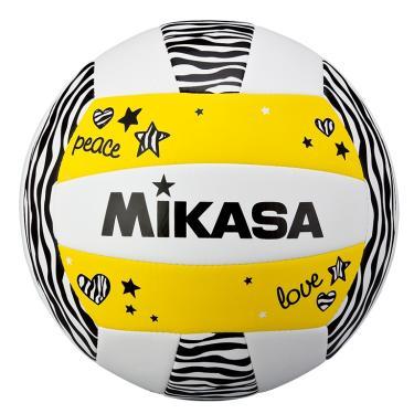Bola de Volêi Mikasa VXS-ZB - Branco/Preto/Amarelo