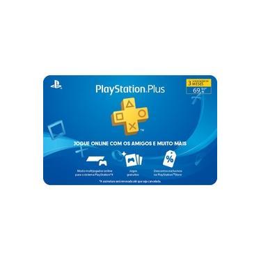 Gift Card Digital Sony Playstation Plus 3 Meses