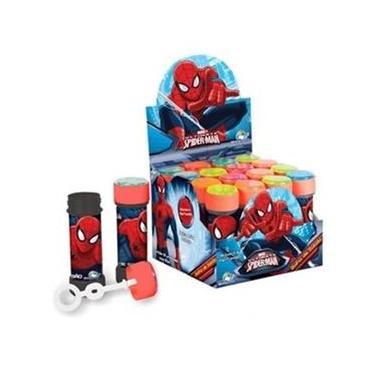 Bolha de Sabao Spider-Man 60ml com Jogo Caixa com 12 Brasilflex