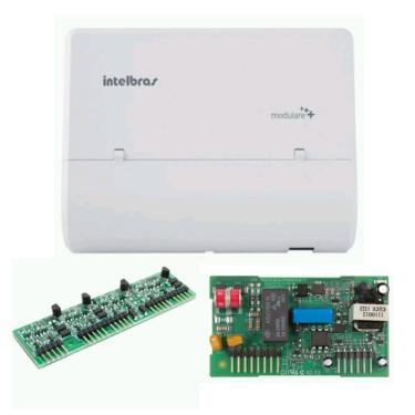 Kit central PABX Modulare Mais com placa de 5 ramais DECT e placa tronco