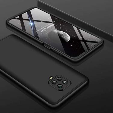 Capa Capinha Case 360 Anti Impacto Fosca Xiaomi Redmi Note 9s Note 9 Pro e Note 9 Pro Max (TOTAL PRETO)