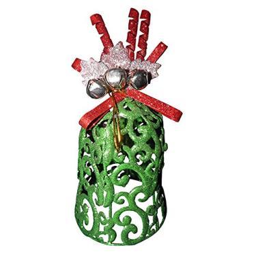 Conjunto Mini Sino de Natal Decoracao Natalino com 3 Unid Verde (NA-13 Mini Sino verde)