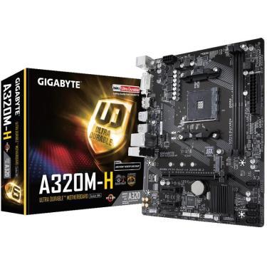 Placa Mae Socket AMD AM4 Gigabyte A320M H M-ATX DDR4 3200MHZ HDMI M.2 USB 3.1