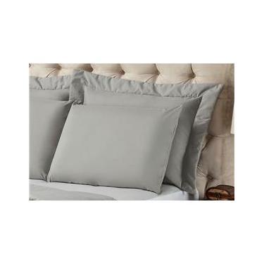 Imagem de Fronha para Travesseiro Plumasul Matelassê Soft Touch em Poliéster/ Microfibra 50 x 90 cm - Cinza