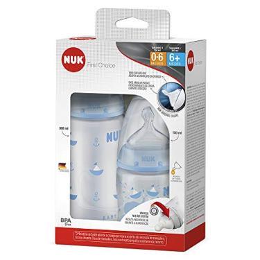 Imagem de Kit com 2 Mamadeiras FC Blue S1 150 ml e S2 300 ml - NUK, Azul