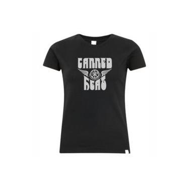Camiseta Do Canned Heat Estampa Prata Feminina