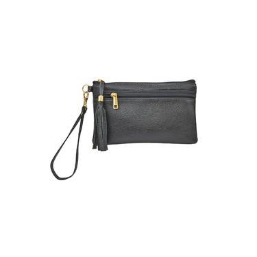 Bolsa de Mão Clutch Porta Celular Carteira de Mão Couro Legitimo Madamix