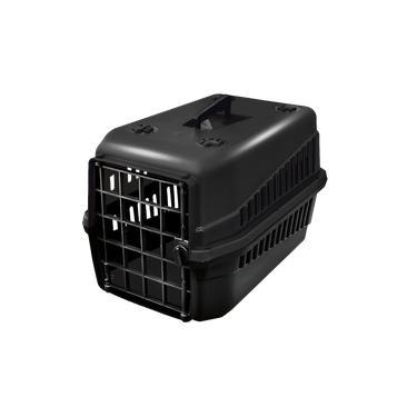 Caixa De Transporte Cão E Gato N3 Preta Super Resistente