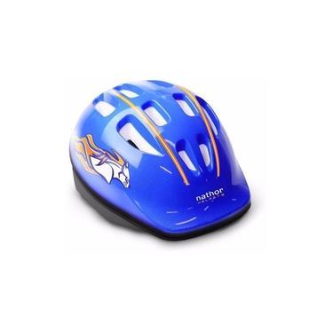 Capacete Proteção Infantil Bicicleta Bike Azul Nathor